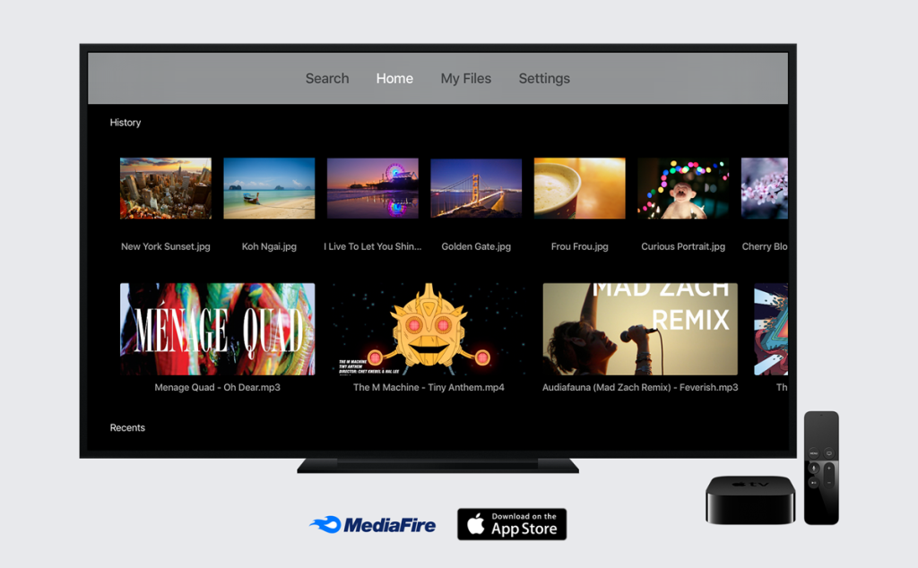MediaFIre-Apple-TV